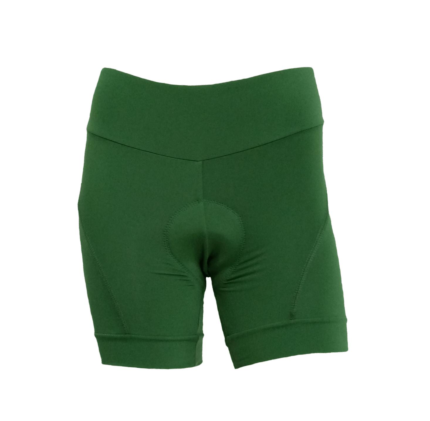 Bermuda Para Ciclismo Feminina Verde Musgo