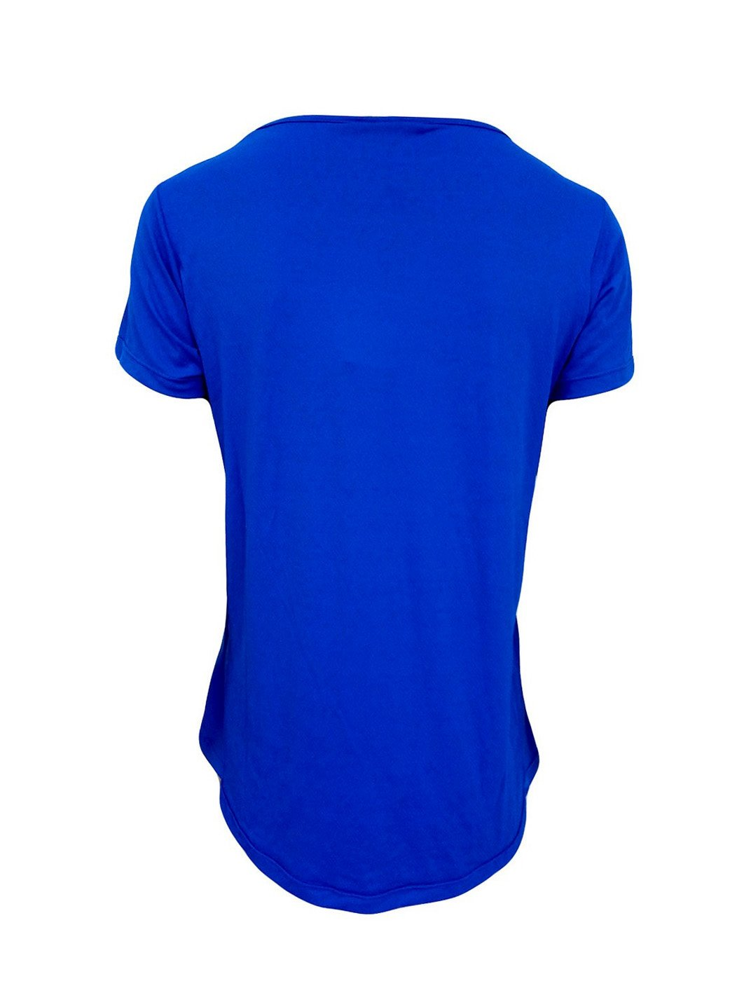 Blusa Alongada Nas Costas Azul Royal