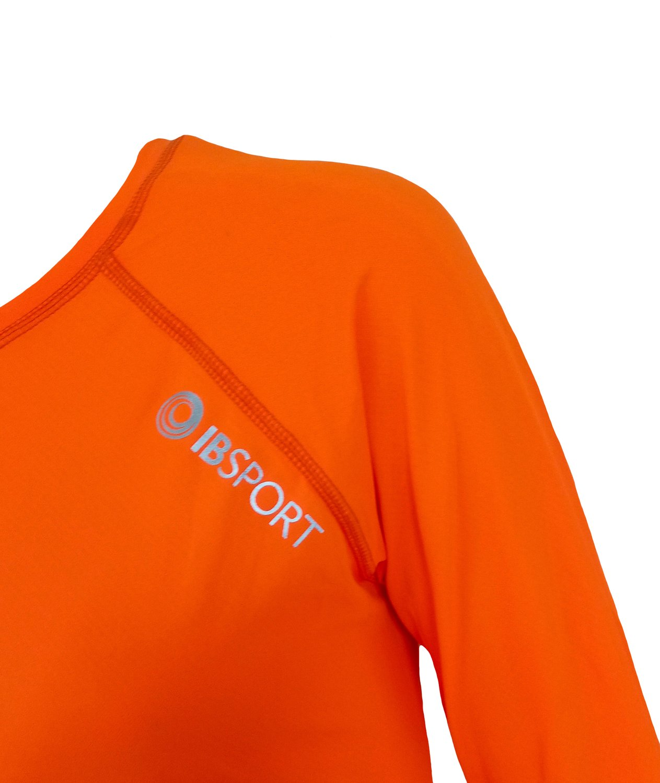 Blusa Com Proteção UV Manga Raglan Laranja Neon