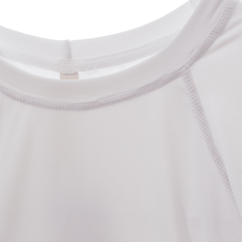 Blusa Com Proteção UV Manga Raglan Branca