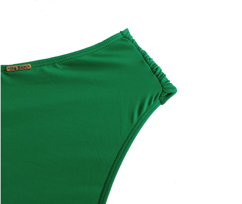Calcinha Confort Larga Verde Bandeira