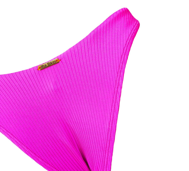 Calcinha Asa Delta Texturizada Rosa Pink
