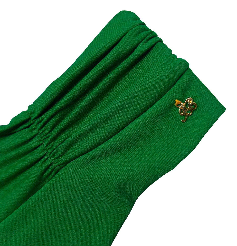 Calcinha Fio Com Barra Drapeada Verde Bandeira