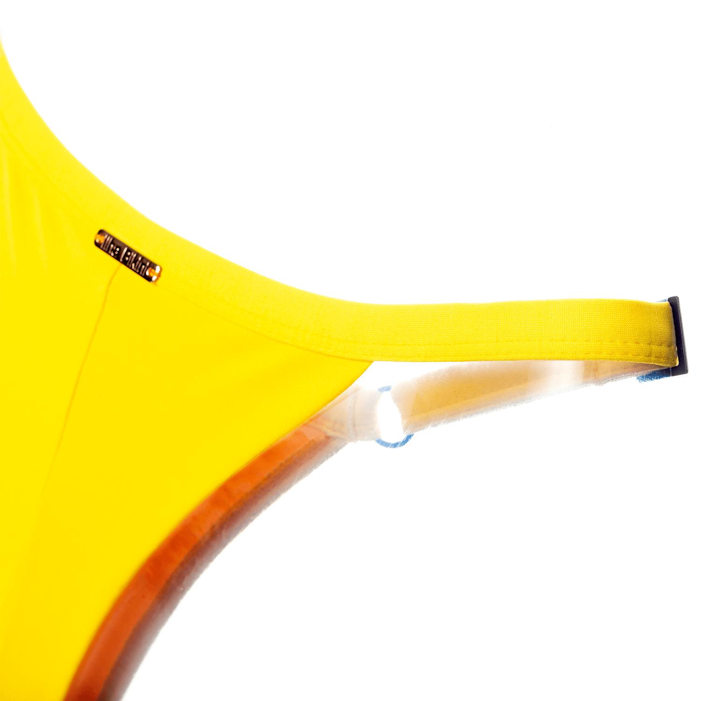 Calcinha Semi Fio Regulável Amarela
