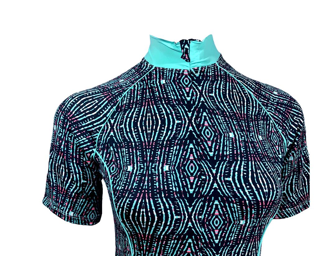Camisa De Ciclismo Feminina Verde Água