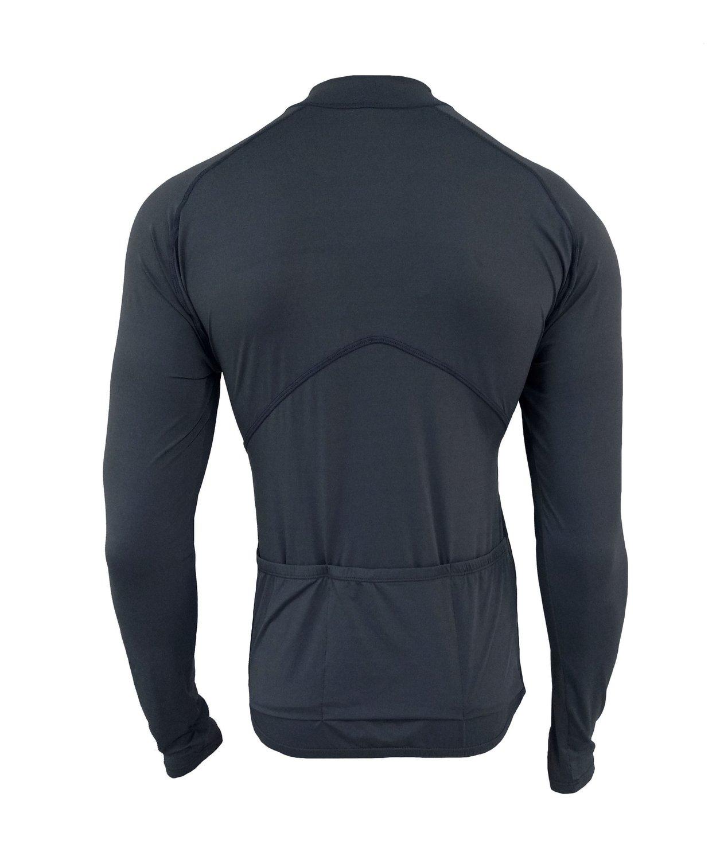 Camisa De Ciclismo Manga Longa Unissex Cinza
