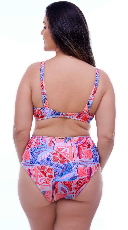 Hot Pants Com Recorte Franzido Rosa Salmão