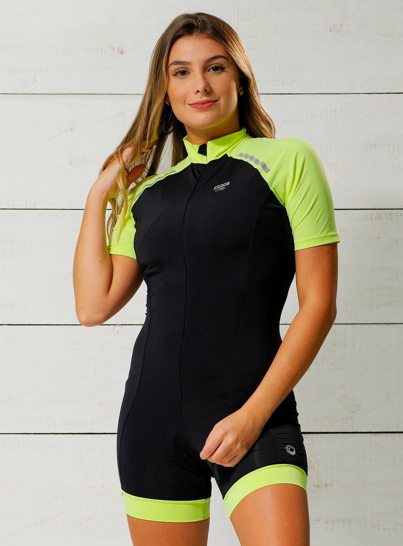 Macaquinho Ciclismo Verde Neon