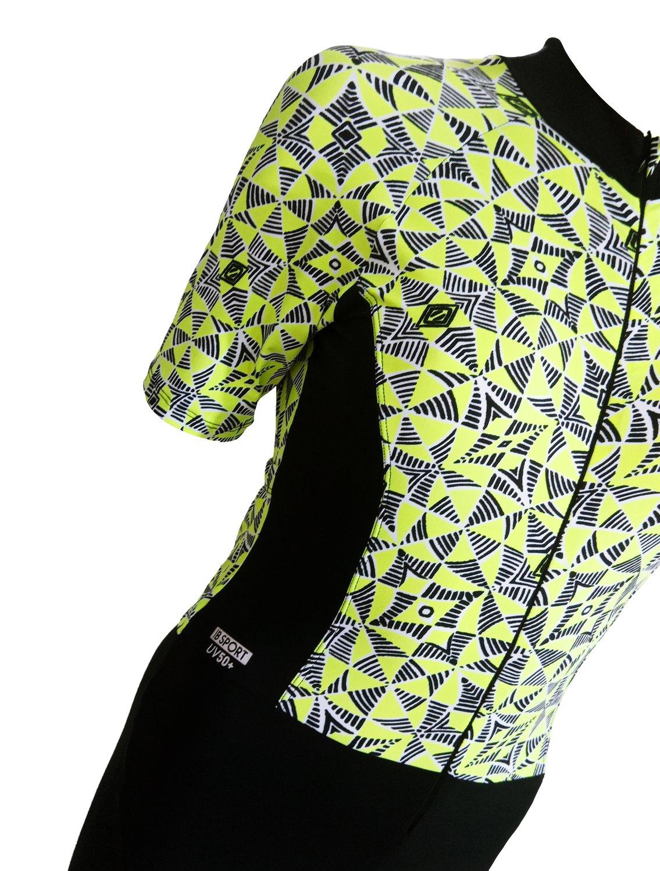Macaquinho Ciclismo Verde e Preto