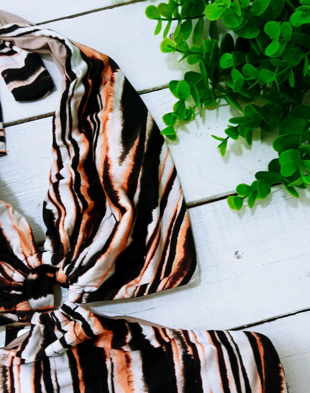 Maiô Frente Única Com Argola Animal Print Tigre