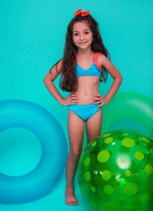 Conjunto Infantil Frufru Azul Celeste