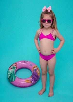 Conjunto Infantil Frufru Rosa Pink