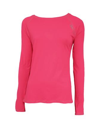 Blusa Com Proteção UV Manga Raglan Rosa Neon