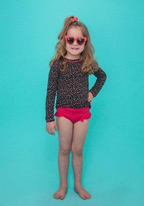 Blusa Infantil Com Proteção UV Mini Frutas
