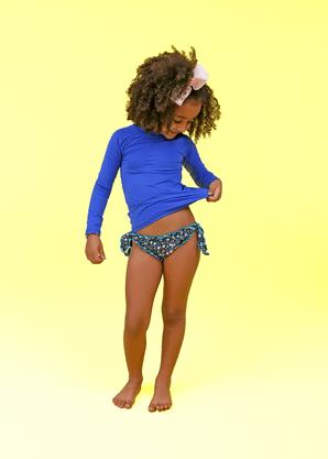 Blusa Infantil Proteção UV Azul Royal