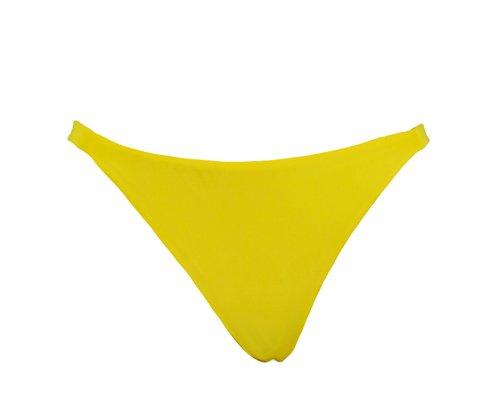 Calcinha Fixa Dupla Amarelo