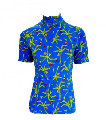 Camisa De Ciclismo Feminina Pássaros