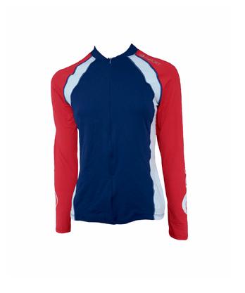 Camisa De Ciclismo Manga Longa Feminina Azul Marinho