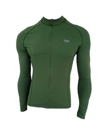 Camisa De Ciclismo Manga Longa Unissex Verde Musgo