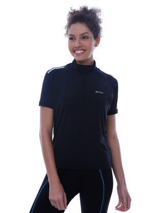 Camisa De Ciclismo Unissex Preta