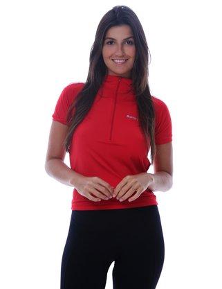 Camisa De Ciclismo Unissex Vermelha