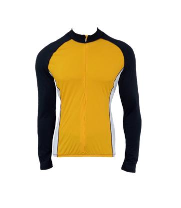 Camisa De Ciclismo Manga Longa Unissex Mostarda
