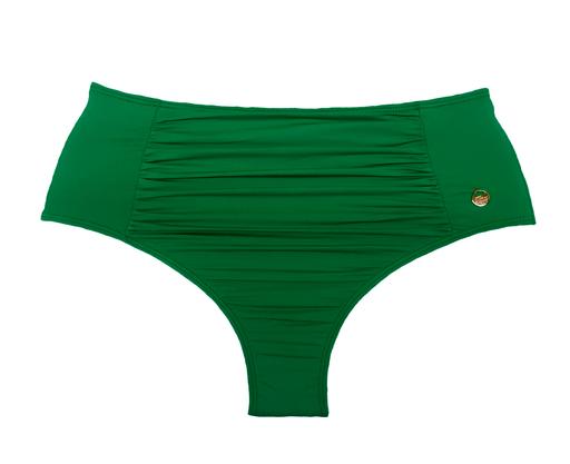 Hot Pants Com Recorte Franzido Verde Bandeira