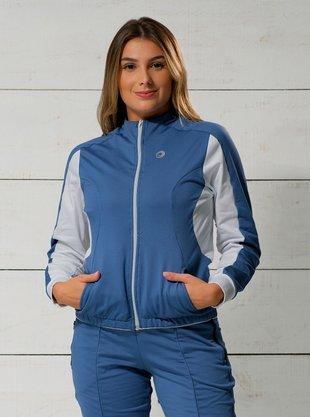 Jaqueta Ciclismo Azul e Branco