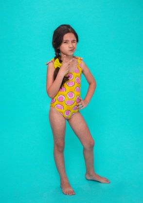 Maiô Infantil Amarradinho Melancia Amarelo