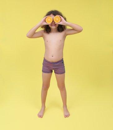 Sunga Boxer Infantil Listras Azul