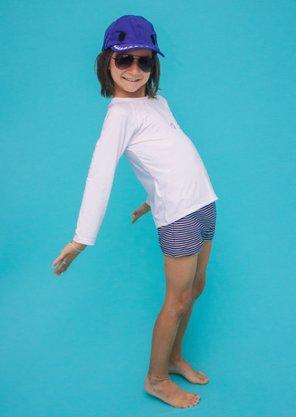 Sunga Infantil Azul Listras