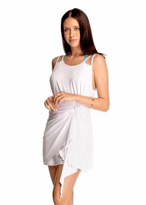 Vestido Com Amarração Branco
