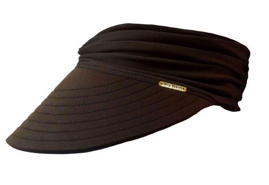 Viseira Turbante Com Proteção UV Marrom