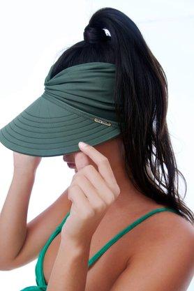 Viseira Turbante Com Proteção UV Verde Musgo