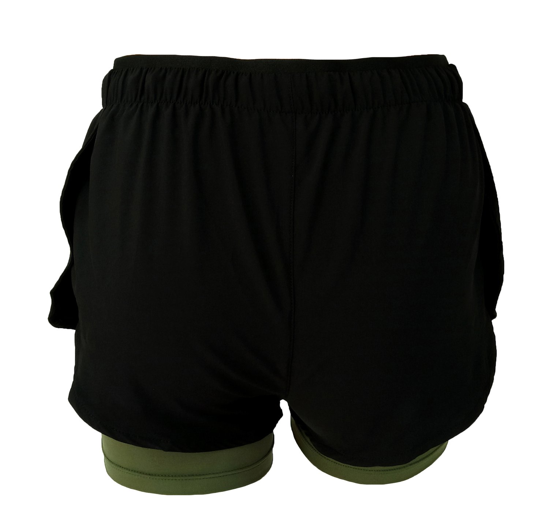 Shorts 2 em 1 Verde Musgo