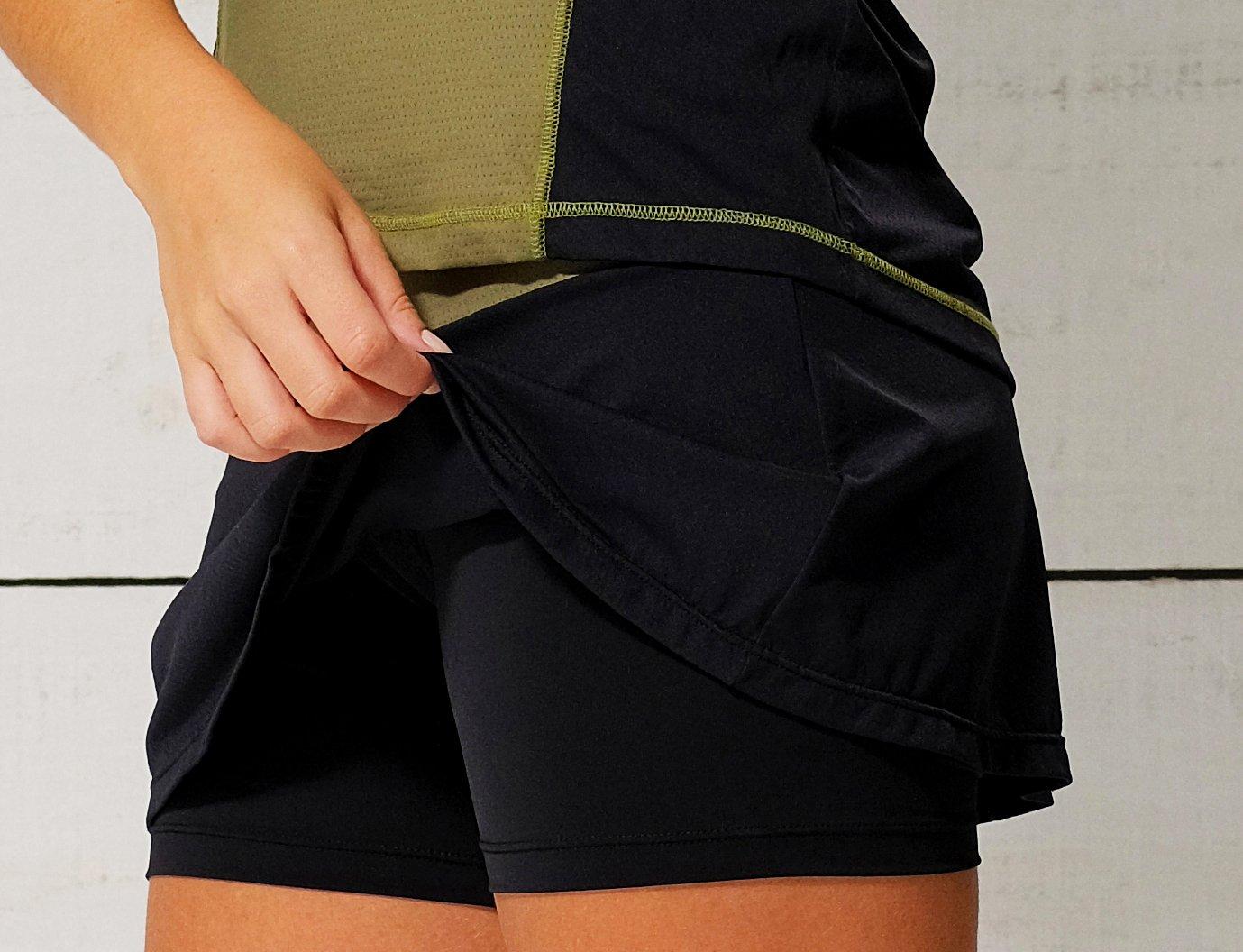Shorts Saia Verde e Preto