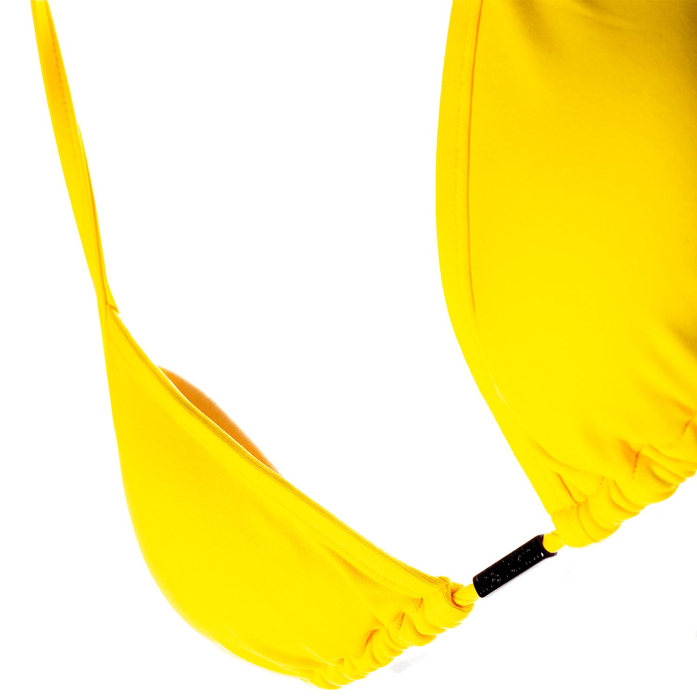 Sutiã Cortininha Amarelo Com Bojo