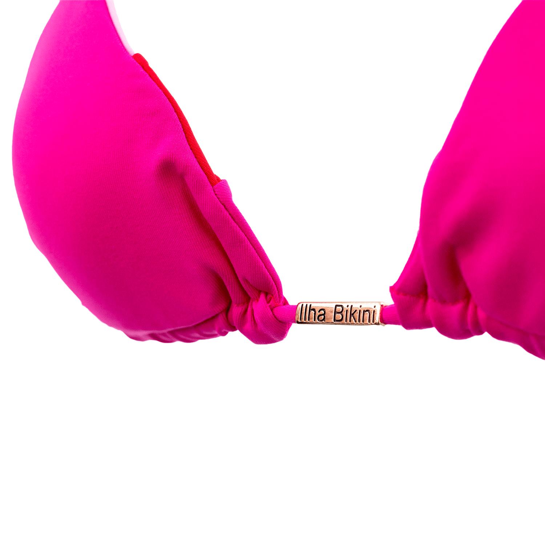 Sutiã Cortininha Tricolor Rosa