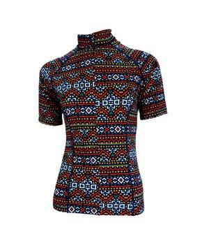 Camisa De Ciclismo Feminina Geométrico  Laranja