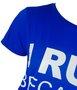 Blusa Manga Curta Larguinha Azul Royal