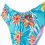 Calcinha Confort Fio Média Floral Colorido