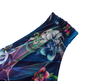 Calcinha Confort Larga Plus Size Floral Azul Marinho