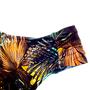 Calcinha Confort Larga Plus Size Floral Marrom