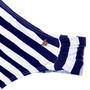Calcinha Confort Média Listras Azul Marinho