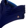 Calcinha Fio Com Barra Drapeada Azul Marinho