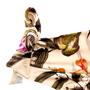 Calcinha Fio Com Barra e Rush Floral Nude