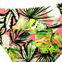 Calcinha Jovem com Barra em V Folhas Verde e Rosa