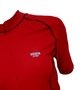 Camisa de Ciclismo Unissex Vermelha Com Trama