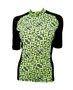 Camisa de Ciclismo Estampa Verde e Preta Com Trama