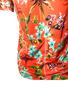 Camisa De Ciclismo Feminina Floral Laranja